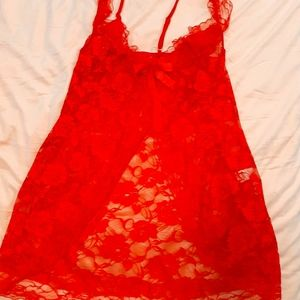 Red Lace Nighty